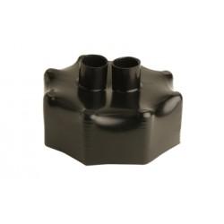 Prilydomas hidroizoliacinis gaubtas dvigubam vamzdžiui  Microflex DUO 125/2x32