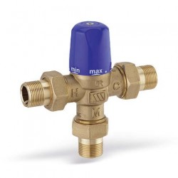 MMV-C20 termostatinis pamaišymo vožtuvas DN20 iš.sr. 30-65°C, 0559420