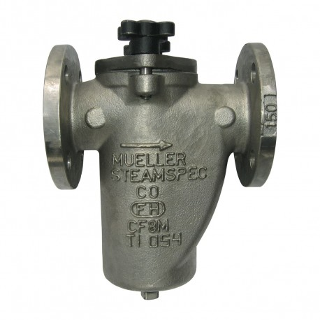 125F-SS Mueller Steam Specialty Class 150 Stainless Steel Flanged End Simplex Basket Strainers