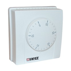 Sieninis termostatas mechaninis F791BELUX 230V/24V, 5-30°C, Herz 3F79100